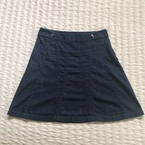 Ann Taylor A-line Denim Skirt